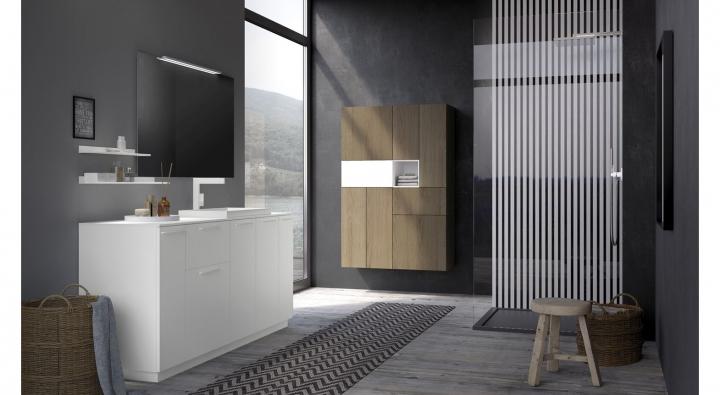 Mobile bagno arredo bagno nuovo lavandini specchio