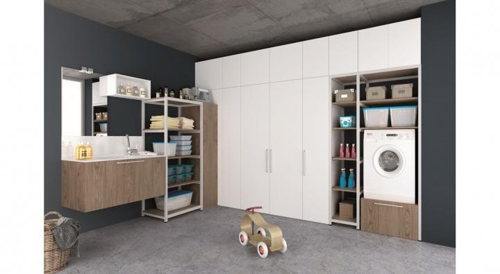 Comp 1 mobile lavanderia arredo bagno archeda torino for Spazio arredo torino