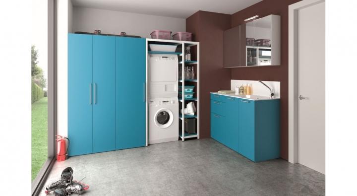 Comp 5 mobile lavanderia arredo bagno archeda torino for Arredo per lavanderia di casa