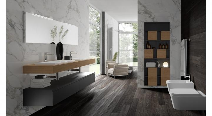Bagno Legno Naturale : Gola comp mobile bagno arredo bagno archeda torino