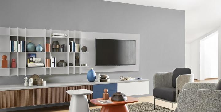 Pannello Porta Tv A Muro.Porta Tv Lcd Pannello A Muro Soggiorni Novamobili Torino