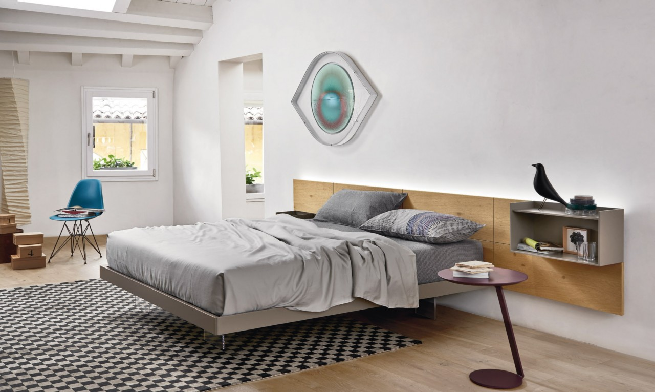 Sistema ecletto con testiera legno letto camere da letto san giacomo torino arredamenti - Camere da letto san giacomo ...
