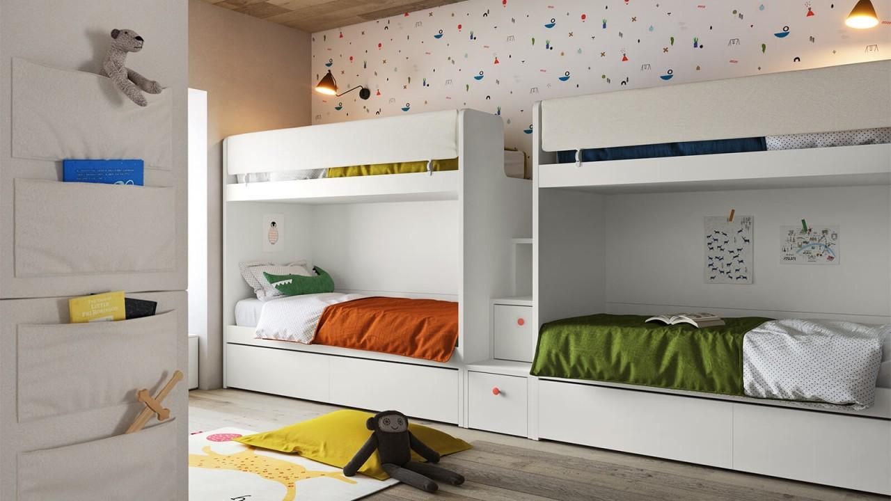 Kids N4 - Cameretta Letto a Castello | Camerette Nidi ...
