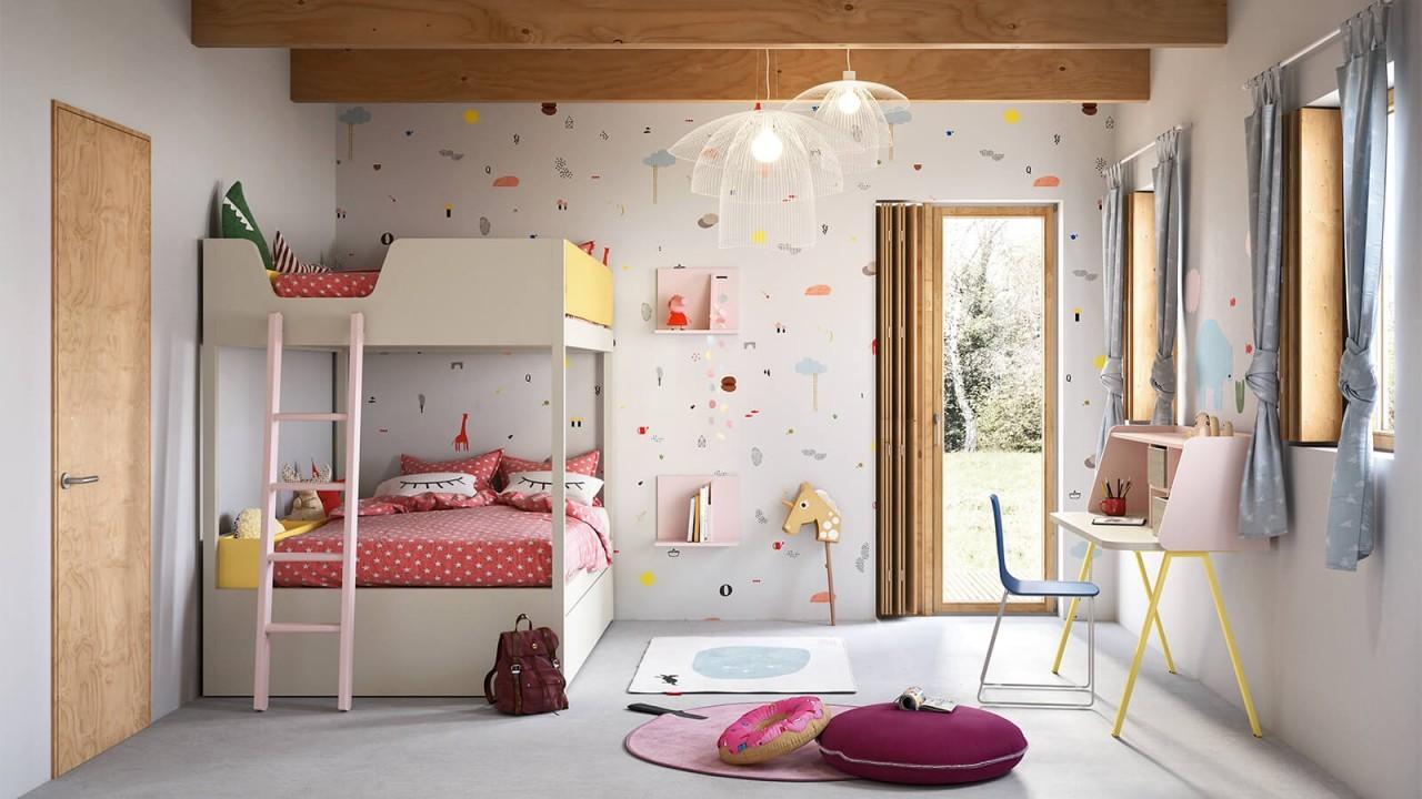 Kids n7 cameretta letto a castello camerette nidi torino arredamenti traiano - Cameretta letto a castello ...