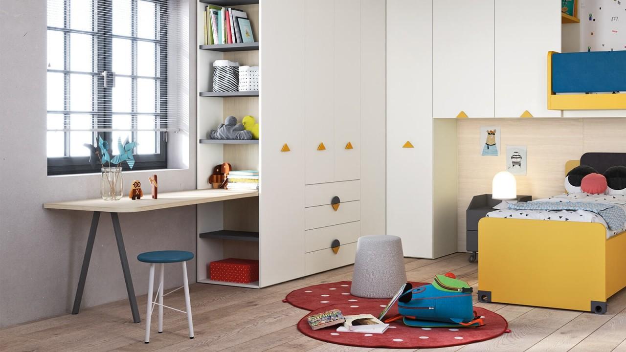 Kids n9 cameretta letto a soppalco camerette nidi for Arredamenti traiano torino