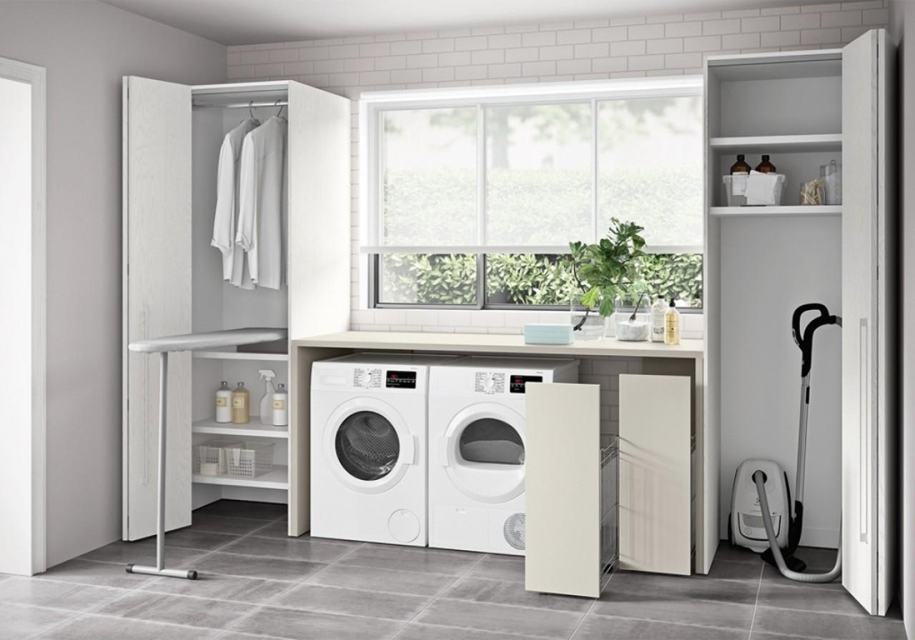 C3 lv03 mobile lavanderia arredo bagno cinquanta3 for Arredo per lavanderia di casa