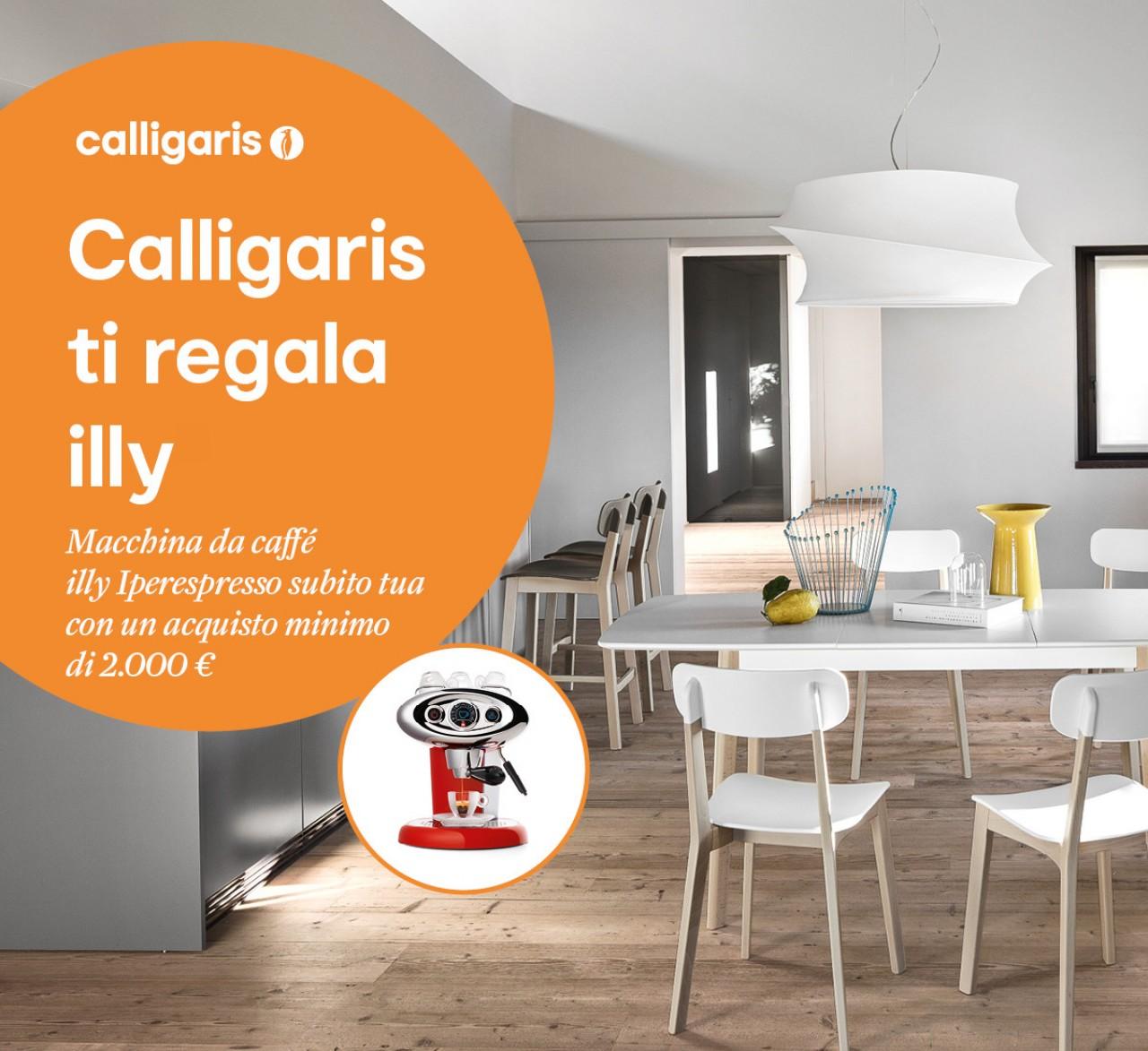 Calligaris ti regala illy offerte mobili torino for Offerte regalo mobili