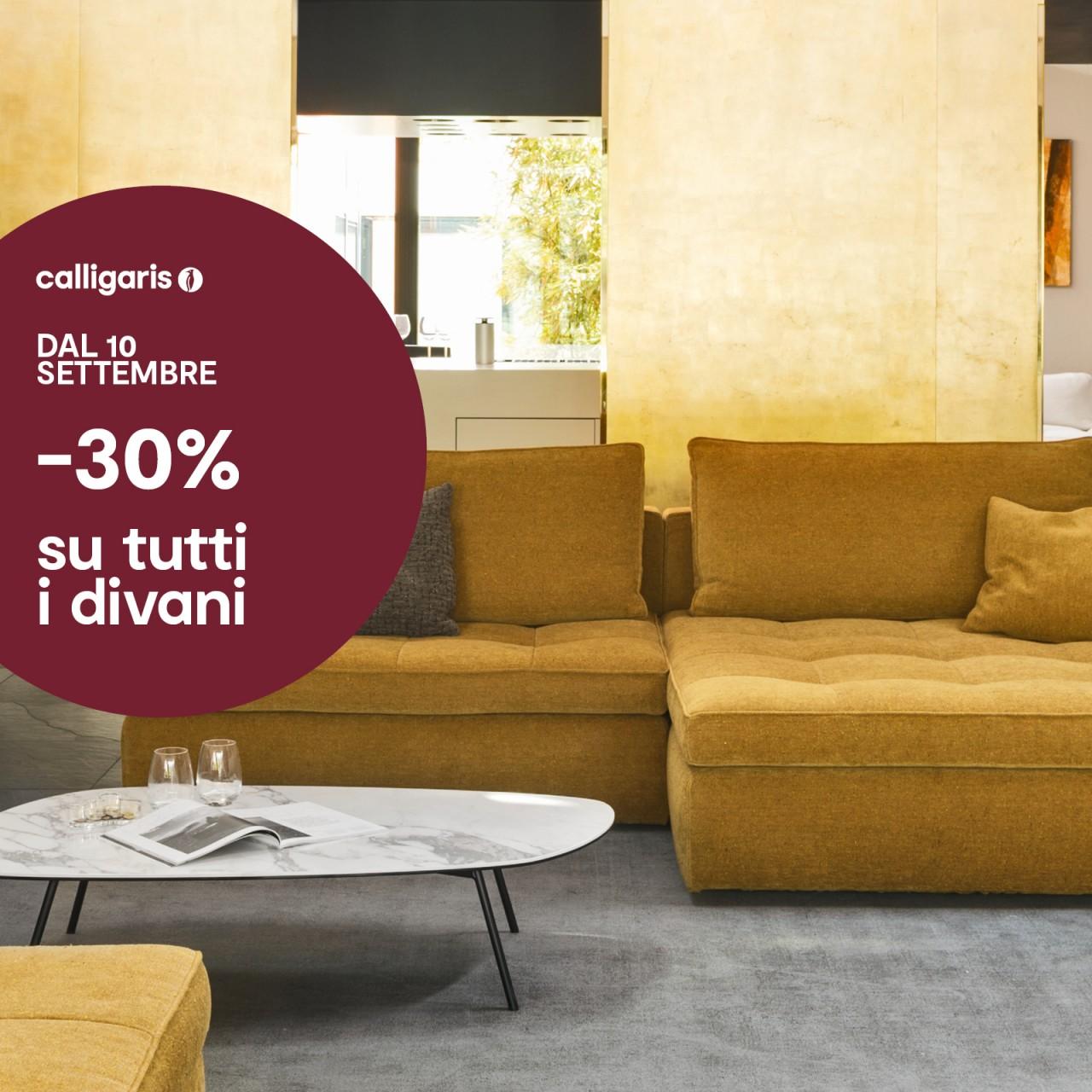 30% su tutti i divani Calligaris | Offerte Mobili Torino ...