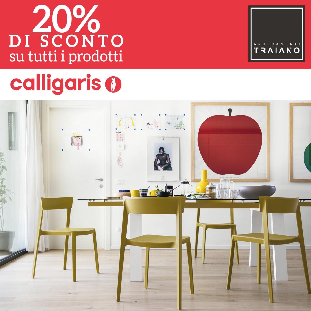 20 di sconto su tutti i prodotti calligaris offerte for Calligaris arredamenti catalogo